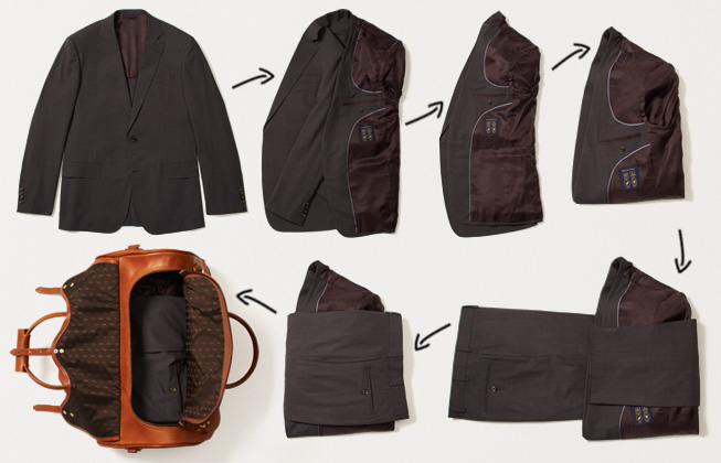 How to pack a suit brooks brothers How to pack a carry on suitcase video